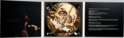 Adam Ant: Live at the Bloomsbury CD and case